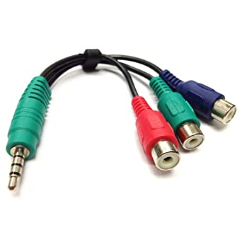 Cable de vídeo de componentes Samsung RCA, 3,5 mm estéreo macho a 3 RCA hembra RGB adaptador CBF cable de señal para Samsung LED, LG TV BN39-01154C Smart TV Home Theater: Amazon.es: