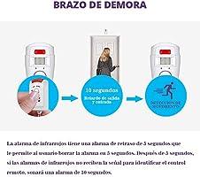 Fuers - Alarma del Sensor de Movimiento de casa Fuers Alarma hogar de Movimiento + 2 mandos a Distancia (1 Pieza)