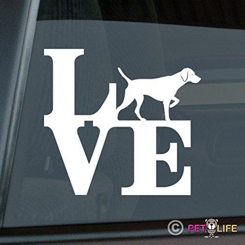 Mister Petlife Love Vizsla Sticker Vinyl Auto Window park v2 hungarian