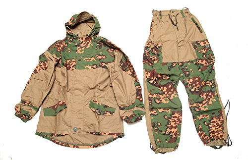 Gorka-E summer camo Russian hunting hiking mountain military BDU uniform suit SPOSN/SSO (52/4(Chest 41' Waist 34' Height 69')) by SPOSN/SSO