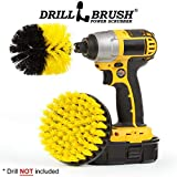 2 Piece Yellow Medium Drill Brush Cleaning Tool Attachment Kit for Scrubbing/Cleaning Tile