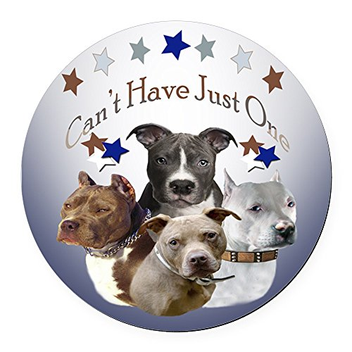 - CafePress - Pitbulls Cant Have just one Round Car Magnet - Round Car Magnet, Magnetic Bumper Sticker