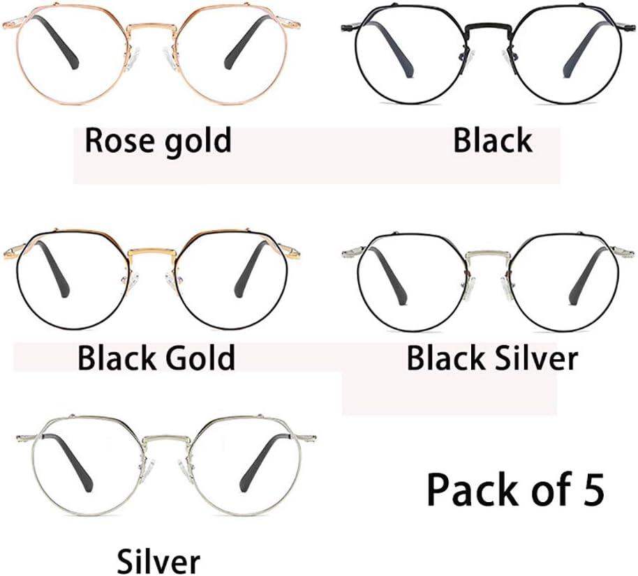 5 Pack Anti Blue Light Gafas para computadora, Rectángulo clásico ...