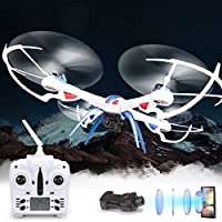 Outtop Christmas Gift 1PC Jjrc H16-2 6-axis 360 Spotlight 2.4GHz RC Quadcopter Camera 2mp RTF Drone Toy