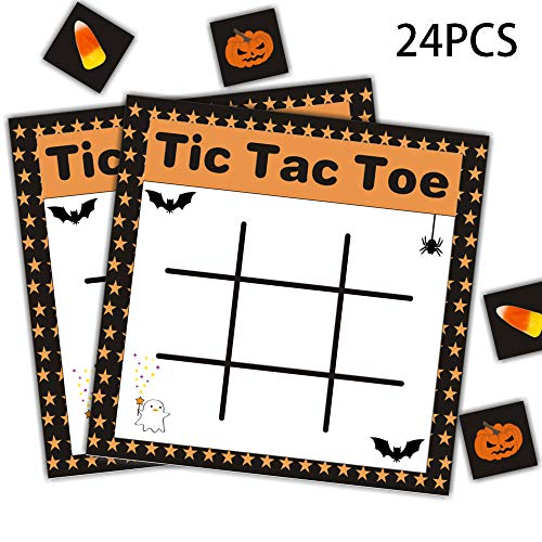Childrens Halloween Party Games (Halloween Tic Tac Toe Games - Pumpkin Kids Party Class Activity Supplies)