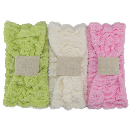 Ladies Fashion Bamboo Fiber Wide Bow Towel Elastic Hair Band Hairlace Headband Hair Bandeau Snood For Washing Face Cosmetic Makeup,Pack of (Bamboo Cotton Headband)