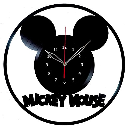Mickey Mouse Clock Record Wall Clock Fan Art Handmade Decor Unique Decorative Vinyl Clock12