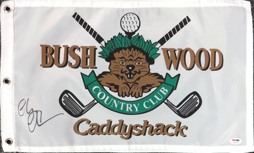 Chevy Chase Signed 12x20 Caddyshack Golf Flag - PSA/DNA Authentication - Celebrity (Psa Dna Autograph Authentication)