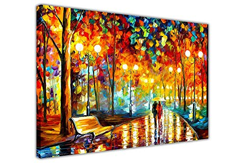 (GXFCFF Large Canvas Wall Art of Park Night Scene,for Your Dining Room and Living Room - Landscape Canvas Prints Photo Home Decoration-75×50CM,(50×75CM))