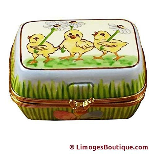 EASTER EGG BOX W/EGGS - LIMOGES BOX AUTHENTIC PORCELAIN FIGURINE FROM FRANCE