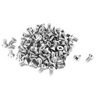 M3 x 6mm Phillips Flat Head Countersunk Bolts Machine Screws 100pcs from uxcell