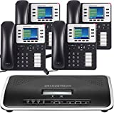 4 phone package - Free One Year Phone Service with Business Phone System by Grandstream: Enhanced Package with 4 Phones