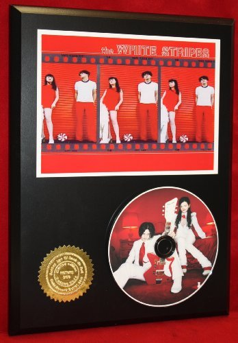 White Stripes Limited Edition Picture Disc CD Rare Collectible Music Display Gold Record Outlet