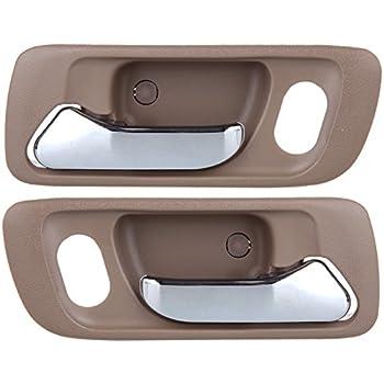 Eccpp door handles 2pcs beige interior front - 2000 honda accord exterior door handle ...