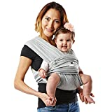 Baby K'tan Original Baby Wrap Carrier, Infant and Child Sling - Simple Wrap Holder for Babywearing - No Rings or Buckles - Carry Newborn up to 35 lbs, Heather Grey, S (W dress 6-8 / M jacket 37-38)