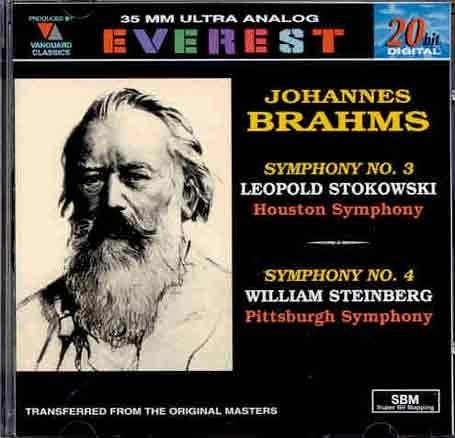 Everest Iii Cd (Brahms: Symphonies Nos. 3 & 4 by Everest Records)