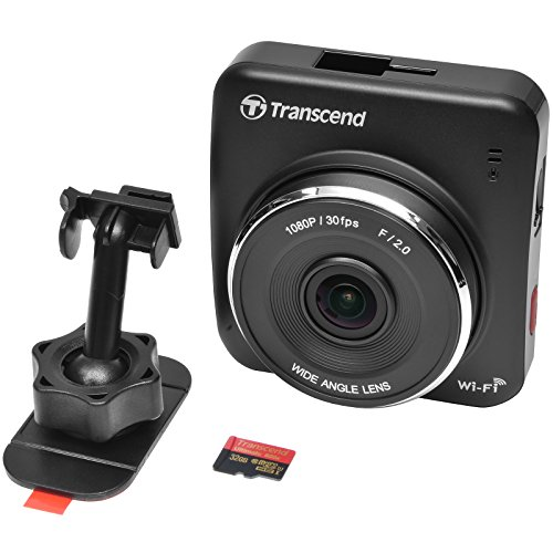 Transcend DrivePro 200 1080p Full HD Car Dashboard Video Recorder with Adhesive Mount with 32GB Card + Case + Kit