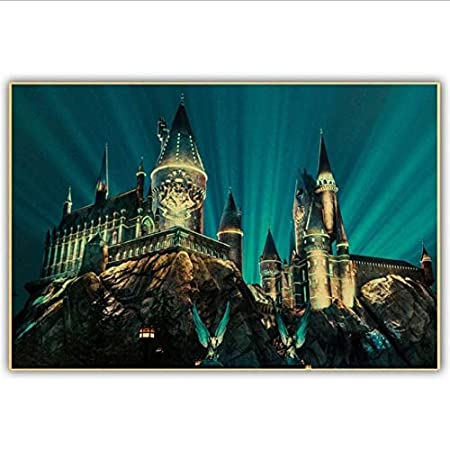 yhnjikl Harry Potter Cartel de la Lona Hogwarts Castillo ...