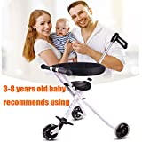 YBL Baby Stroller Simple cart for children Three wheeled cart Aluminum alloy folding baby carriage Light weight Can fly by plane Suitable for 3-8 year old