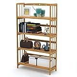Ufine Bamboo Wood Bookcase Col