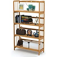 Ufine Wood Bookcase Book Collection 4 Tier Adjustable Book Shelves Multipurpose Display Rack Storage Organizer Shelf Kitchen Bathroom Garage Dormitory Waterproof Christmas Gift for Students Children