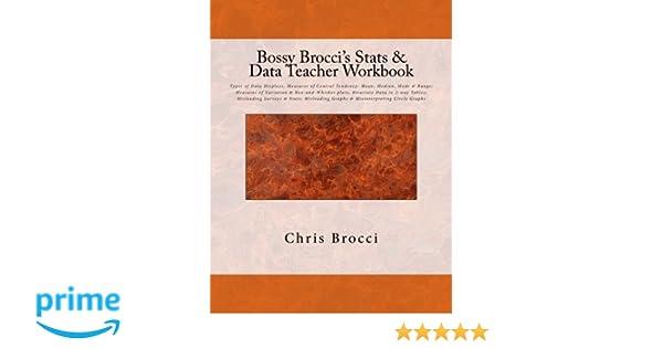 Amazon.com: Bossy Brocci's Stats & Data Teacher Workbook: Types of ...