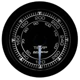 AutoMeter 8154 Chrono Water Temperature Gauge 2-1/16 in. Black Dial Face White LED Electric Digital Stepper Motor 120-280 Degree F Chrono Water Temperature Gauge