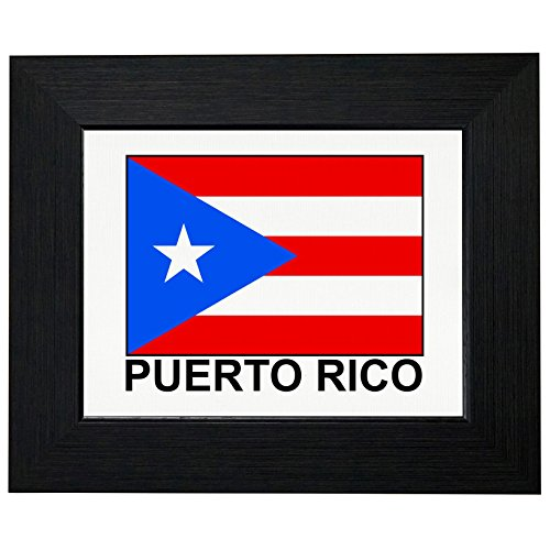 Puerto Rico Flag - Special Vintage Edition Framed Print Poster Wall or Desk Mount Options