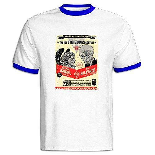 - AWSY Men's Stare Down Contest Baseball T Shirt RoyalBlue
