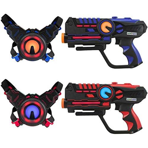 chollos oferta descuentos barato Darpeje Batalla Laser Battle Set 2 Jugadores Azul Rojo de Toys Fun Sycomore Faujas ODAR77 Multicolor