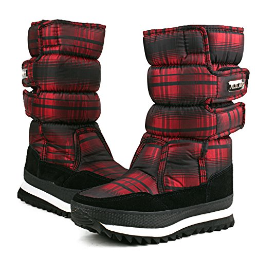 Calf Fur 99489 Mid Platform Lining AUSLAND Red Boot Womens Fashion wRTWngq