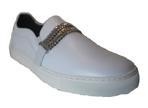 Versace Collection - Zapatillas de Cuero para Hombre: Amazon.es: Zapatos y complementos