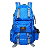 PioneerHiker 50L Hiking Backpack Daypack Water-resistant for Outdoor Camping Travel Sports Blue