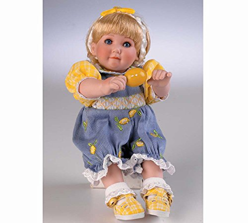 """Marie Osmond Lizzy Lemon Fruit Cup 5"""" Seated Porcelain Tiny Tot"""