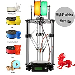 Iglobalbuy Auto-leveling Kossel Delta Rostock DIY 3D G2s Mini Printer Single Dual Extruder Self-assembly 3D Printer DIY Kit by MFactory