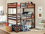 Walker Edison Furniture Company Solid Wood Triple Bunk Bed - Grey
