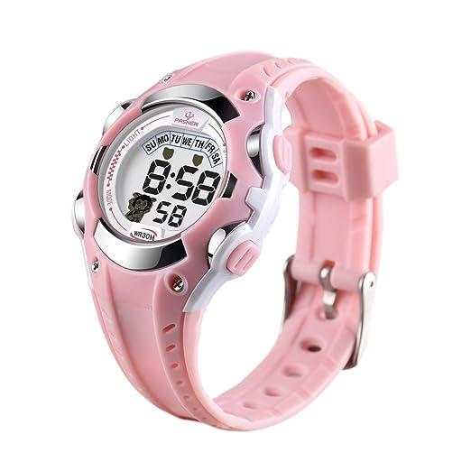 Reloj de Pulsera para niños, Resistente al Agua, Reloj Deportivo al Aire Libre,