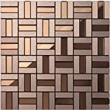Diamond mirror glass and metal blends strip mosaic tiles, shiny home wall decorative building material, colorful Self-Adhesive Aluminium Plastic Panel tiles, LSG13 (22 pieces | 22sq.ft/2 sqm, LSG13)