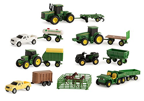 John Deere Vehicle Value Set - Tractor Farm Diecast