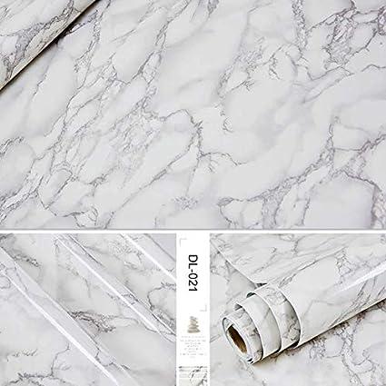Amazon.com: Backsplash Wallpaper Self Adhesive Marble Vinyl ...