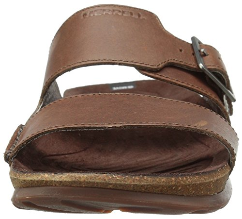 Merrell Downtown Slide Buckle, Sandali a Punta Aperta Uomo Marrone (Dark Earth)