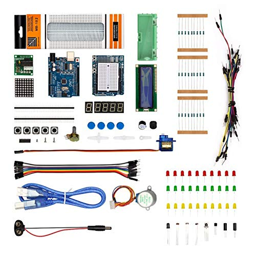 (RoboGets Arduino Uno R3 Starter Kit with All Sensors & Plastic Box for Robotics & Electronics)