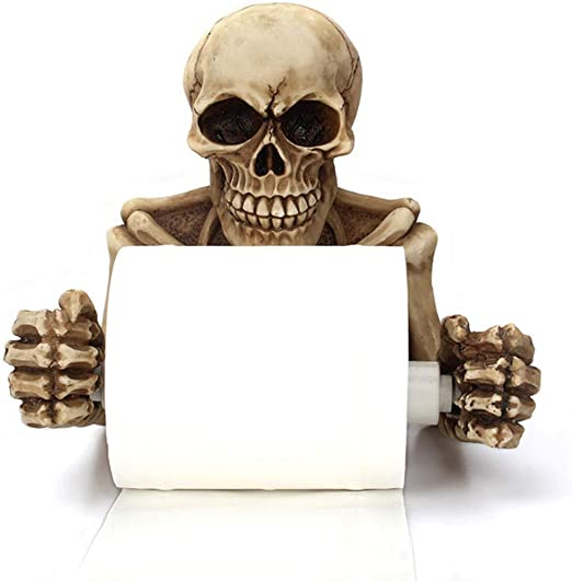 8/×7inch Decoraci/ón Ba/ño Halloween Almacenamiento Papel para Montaje En Pared Rollo Resina Organizador Papel,A-20/×18cm AILZNN Esqueleto Escalofriante Sujetador Papel Ba/ño