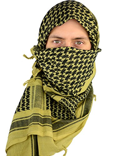 Mato & Hash Military Shemagh Tactical 100% Cotton Scarf Head Wrap - Sage
