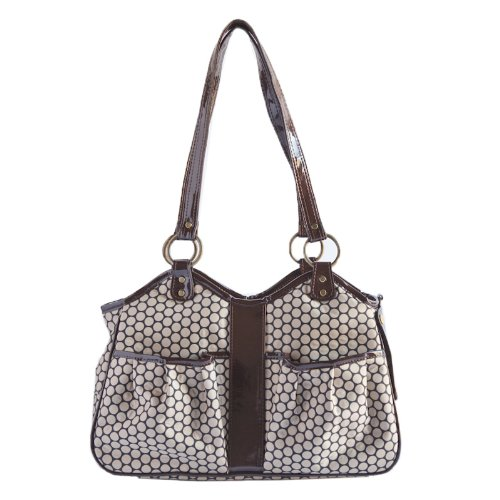 Petote Metro Classic Dog Carrier, Noir Dots, Large