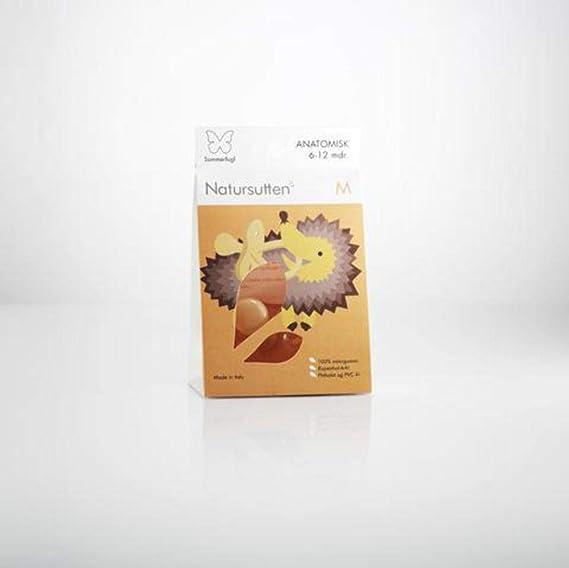 Natursutten Mariposa - Chupete ecológico de goma natural con tetina ortodóntica, de 0 a 6 meses