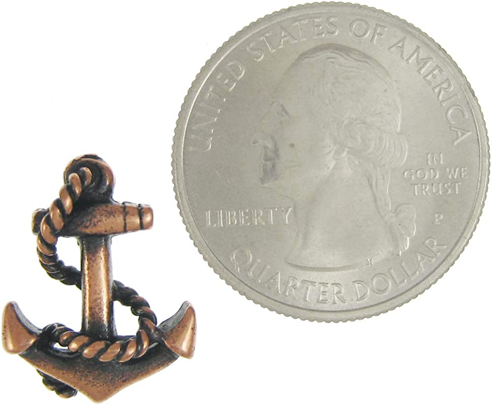 Jim Clift Design Anchor Copper Lapel Pin