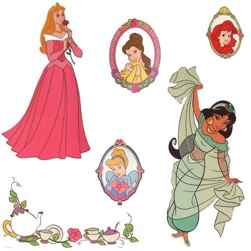 Disney Princess Stickers Royal Portraits Wall Decals ()