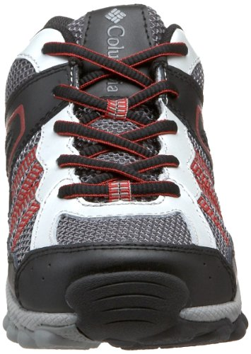 Columbia YOUTH SWITCHBACK 2 BY3177, Unisex - Kinder, Sportschuhe - Outdoor Grau/Wild Dove, Chili Pepper