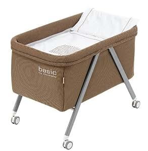 Minicuna aluminio Basic Interbaby Beige incluye Textil exterior + Colchón + Colcha + Almohada